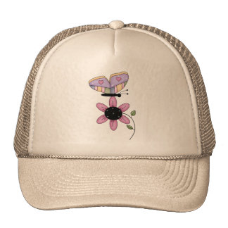 Butterfly And Pink Daisy Trucker Hat