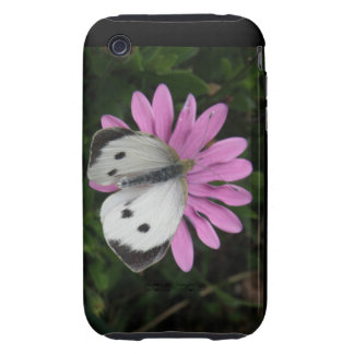 Butterfly and Pink Flower iPhone 3 Case