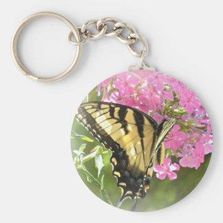 Butterfly and Pink Flower Key Chain