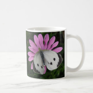 Butterfly and Pink Flower Mug