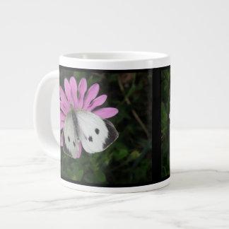 Butterfly and Pink Flower Mug Extra Large Mug