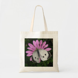 Butterfly and Pink Flower Tote Bag