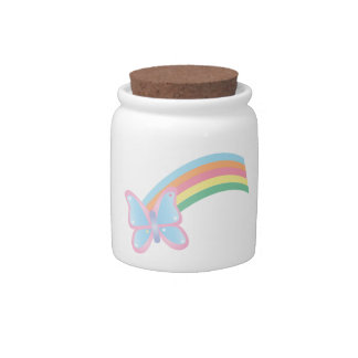 Butterfly and Rainbow Candy Jars