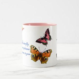 Butterfly and Rainbow Coffee Mug