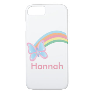 Butterfly and Rainbow Customizable iPhone 7 Case