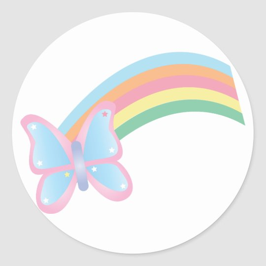 Butterfly and Rainbow Sticker
