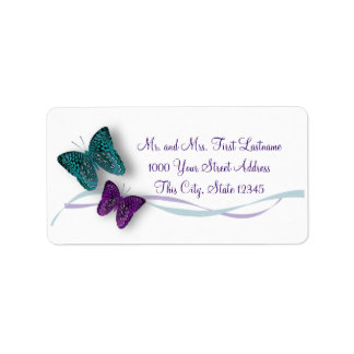 Butterfly and Ribbon Address Label