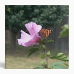 Butterfly and Rose of Sharon Binder