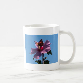Butterfly and Rose of Sharon Classic White Coffee Mug