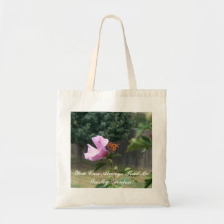 Butterfly and Rose of Sharon Tote Bag