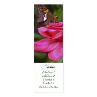 Butterfly and Rose Profile card Business Card