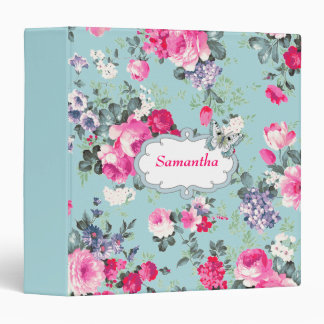 Butterfly and Roses Custom Name Gift Binder