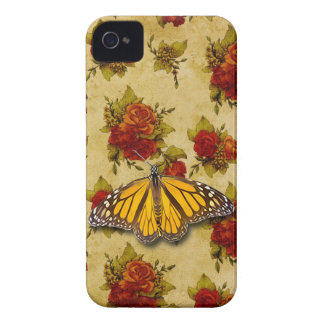 BUTTERFLY AND ROSES iPhone 4 CASE