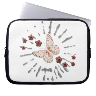 Butterfly and Roses Splash Laptop Sleeve