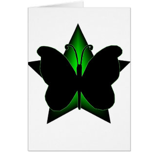 Butterfly and star card