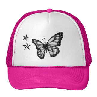 Butterfly and stars trucker hat