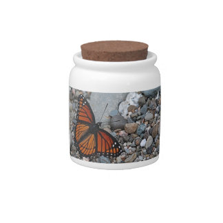 Butterfly and Stones Candy Jars