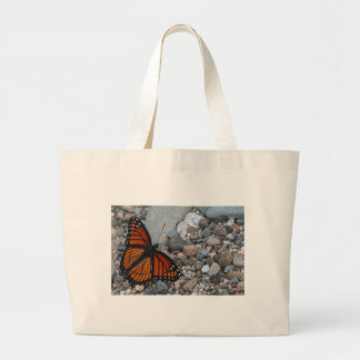 Butterfly and Stones Large Tote Bag