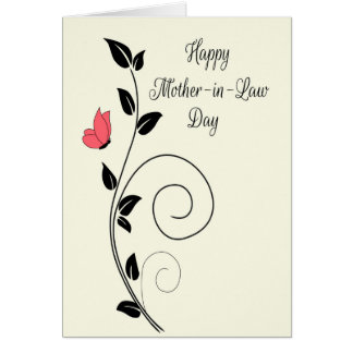 Butterfly and Swirls for Happy Mother-in-Law Day Greeting Card