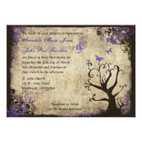 Butterfly and Tree Vintage Wedding Invitation (<em>$2.00</em>)