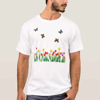 Butterfly and Tulips T-Shirt
