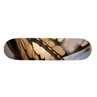 Butterfly and White Flowers Skate Deck