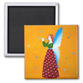 Butterfly Angel 2 Inch Square Magnet