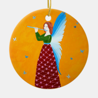 Butterfly Angel Ceramic Ornament