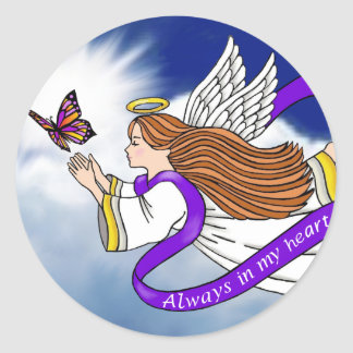 Butterfly Angel Classic Round Sticker