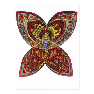 Butterfly Angel in Blue top Postcard