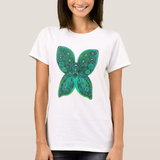 Butterfly Angel with Blue Green Wings T-Shirt