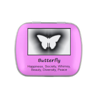 Butterfly Animal Spirit Meaning Collectible Jelly Belly Candy Tin