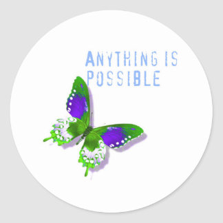 Butterfly Anything is Possible Classic Round Sticker