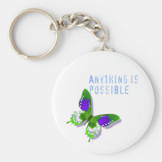Butterfly Anything is Possible Key Chain