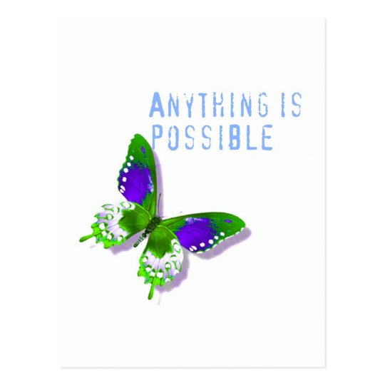 Butterfly Anything is Possible Postcard