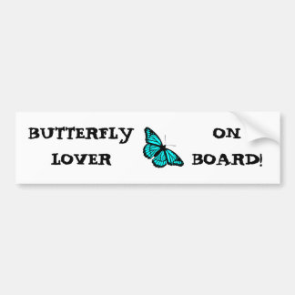 BUTTERFLY AQUA 45 ~ BUMPER STICKER