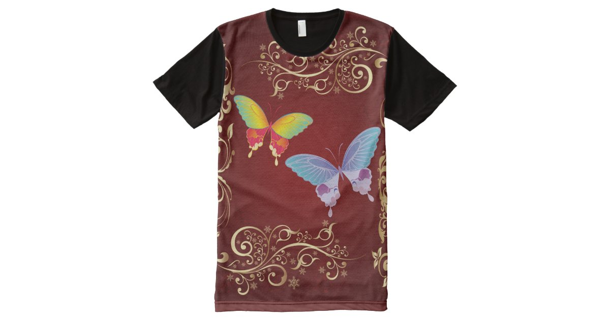 Butterfly art 1 all over print shirt zazzle for All over shirt printing