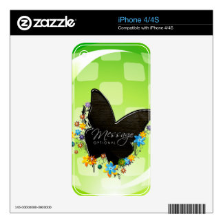 Butterfly Art 25 Phone Skin Decal For iPhone 4