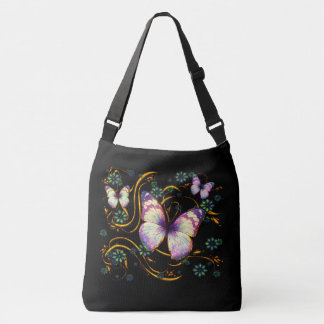 Butterfly Art 6 Image Options Crossbody Bag