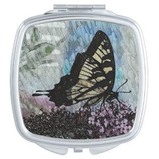 Butterfly Art Compact Mirror