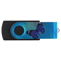 Butterfly Art Customizable Usb Swivel Flash Drive at Zazzle