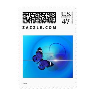 Butterfly Art Design Small Postage Stamp