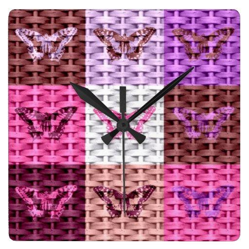 Butterfly Art Graphic Design 2 Clock