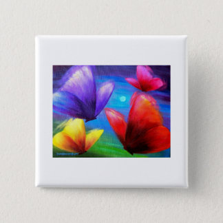 Butterfly Art Painting - Multi Pinback Button