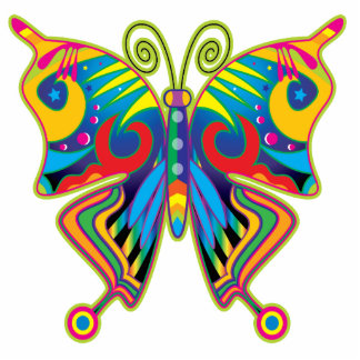 BUTTERFLY ART PHOTO CUT OUTS