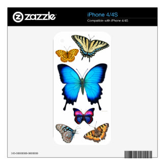 Butterfly Art Study Zazzle Skin iPhone 4S Decals