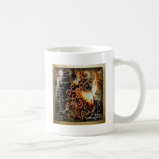 Butterfly Artwork in Grunge Classic White Coffee Mug