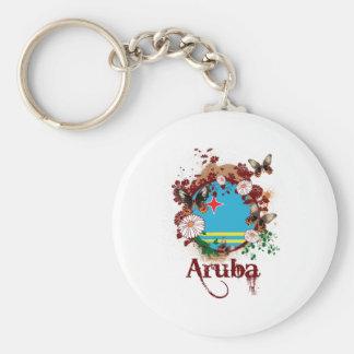 Butterfly Aruba Keychain