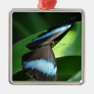 Butterfly At Half Light Metal Ornament