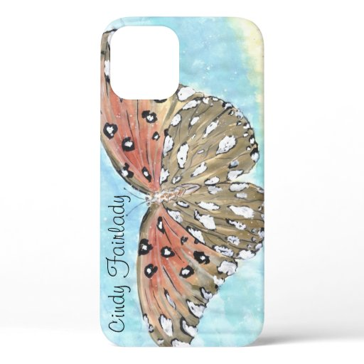 Butterfly at the beach iphone case